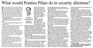 20141214.TRIB.What Would Pilate Do